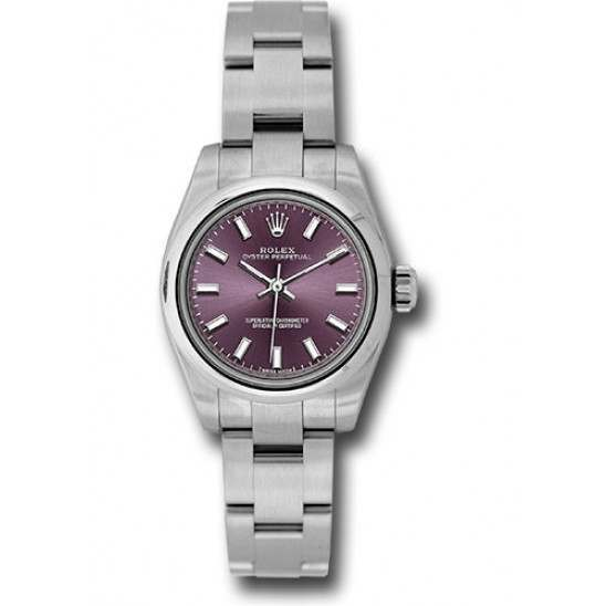 Rolex Oyster Perpetual 26 Red Grape/ Index Oyster 176200