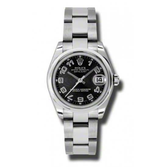 Rolex Lady Datejust 31mm Black Arab Concentric Oyster 178240