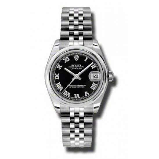 Rolex Lady Datejust 31mm Black Roman Jubilee 178240