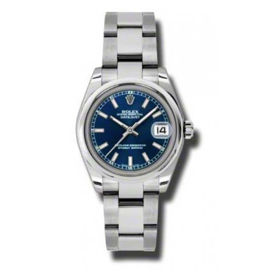 Rolex Lady Datejust 31mm Blue/index Oyster 178240