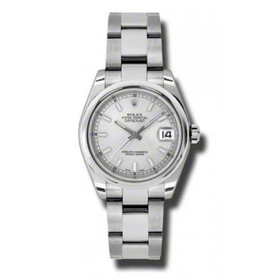Rolex Lady Datejust 31mm Silver/index Oyster 178240
