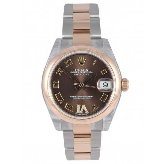 Rolex Lady Datejust 31mm Chocolate Roman Oyster 178241