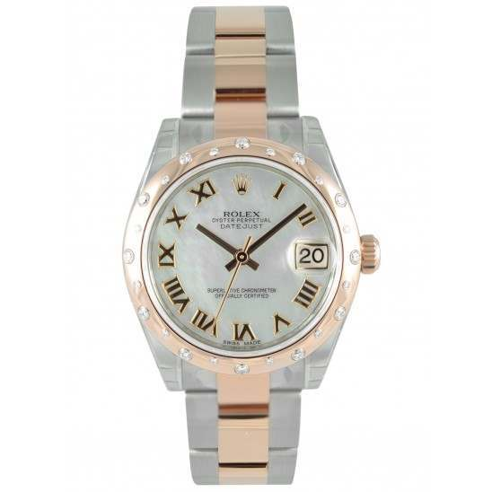 Rolex Lady Datejust 31mm White mop Roman Oyster 178341