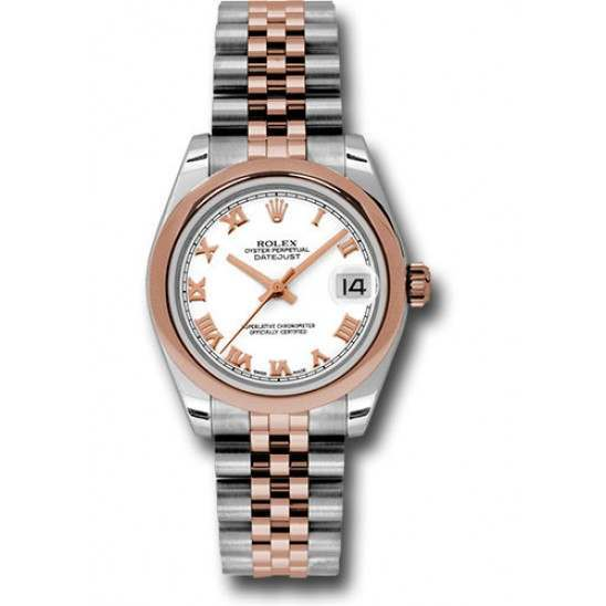 Rolex Lady Datejust 31mm White Roman Jubilee 178241