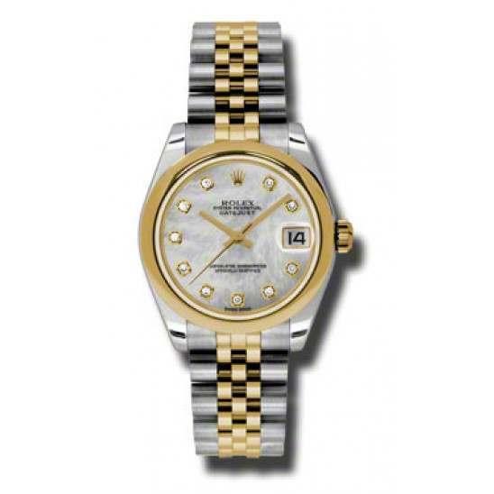 Rolex Lady Datejust 31mm White mop/diamond Jubilee 178243