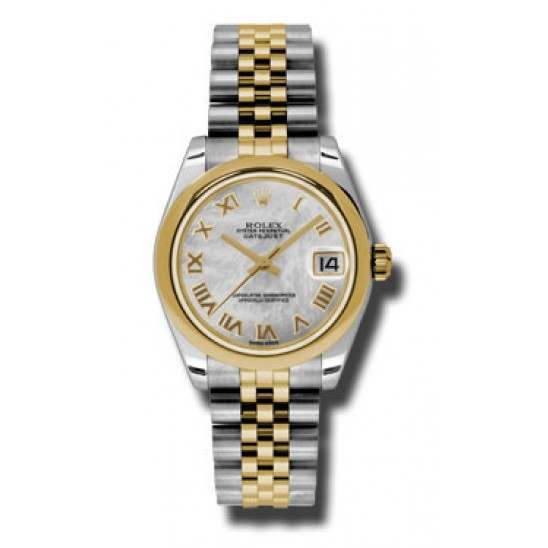 Rolex Lady Datejust 31mm White mop Roman Jubilee 178243