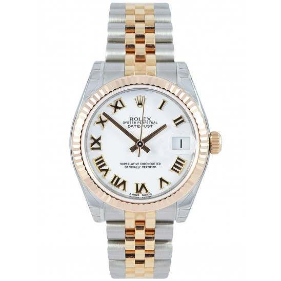Rolex Lady Datejust 31mm White Roman Jubilee 178271