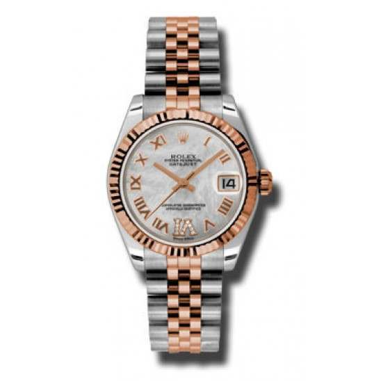 Rolex Lady Datejust 31mm White mop Roman Jubilee 178271