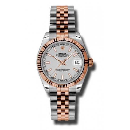 Rolex Lady Datejust 31mm Silver/index Jubilee 178271