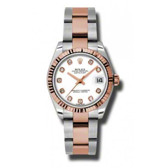 Rolex Lady Datejust 31mm White/diamond Oyster 178271