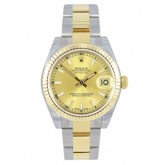 Rolex Lady Datejust 31mm Champagne/index Oyster 178273