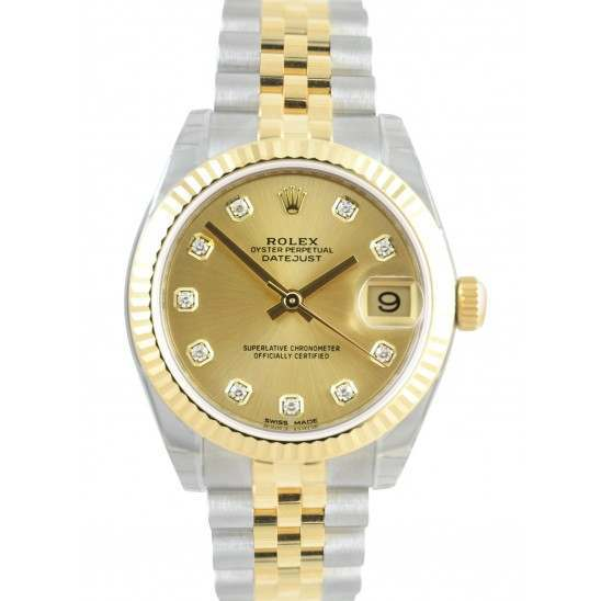 Rolex Lady Datejust 31mm Champagne/diamond Jubilee 178273