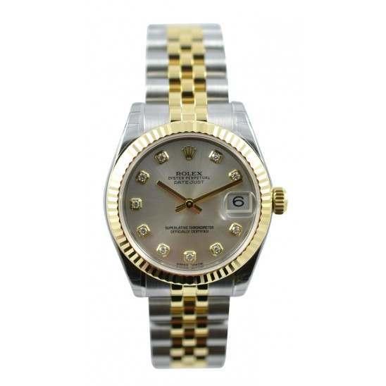 Rolex Lady Datejust 31mm Silver/diamond Jubilee 178273