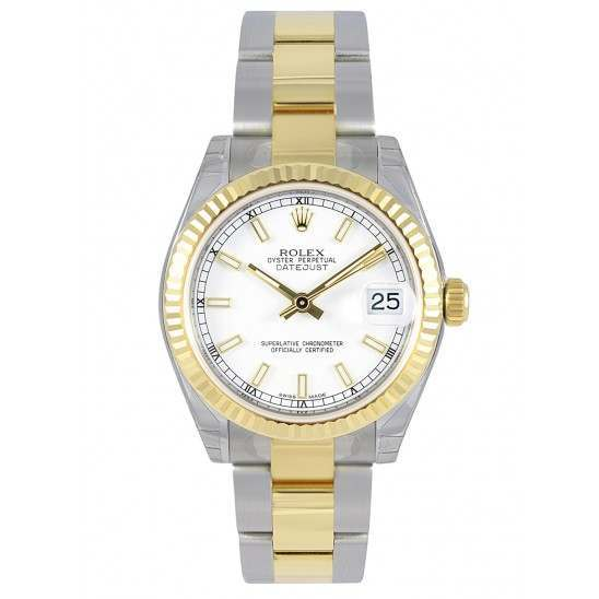 As New Rolex Lady Datejust 31mm White Dial Oyster Bracelet 178273