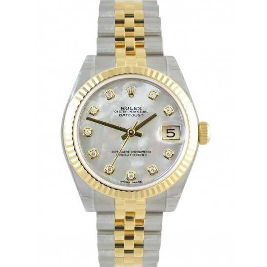Rolex Lady Datejust 31mm White mop/diamond Jubilee 178273