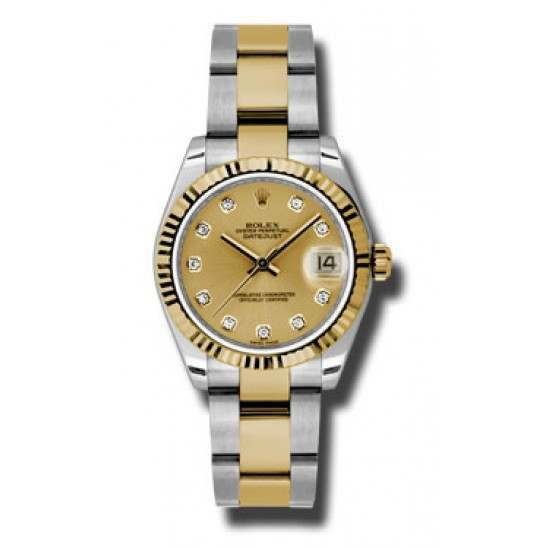 Rolex Lady Datejust 31mm Champagne/diamond Oyster 178273