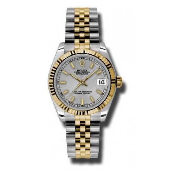 Rolex Lady Datejust 31mm Silver/index Jubilee 178273