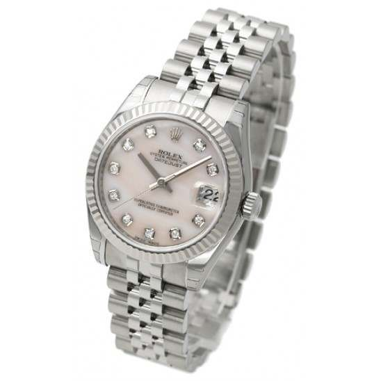 Rolex Lady Datejust 31mm Pink mop/diamond Jubilee 178274