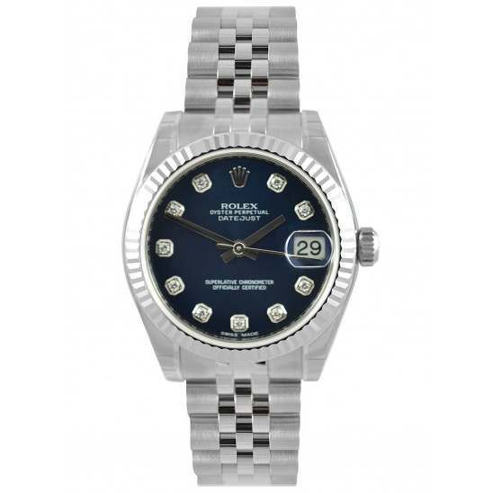 Rolex Lady Datejust 31mm Blue/diamond Jubilee 178274