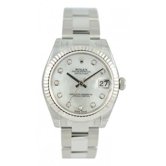 Rolex Lady Datejust 31mm White mop/diamond Oyster 178274