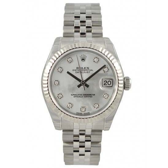 Rolex Lady Datejust 31mm White mop/diamond Jubilee 178274