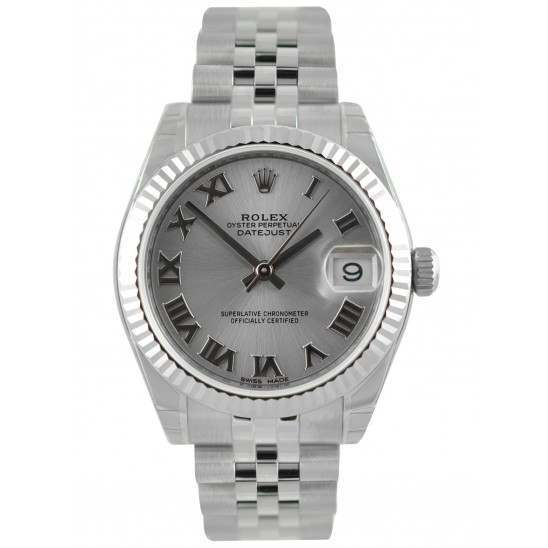 Rolex Lady Datejust 31mm Rhodium Roman Jubilee 178274