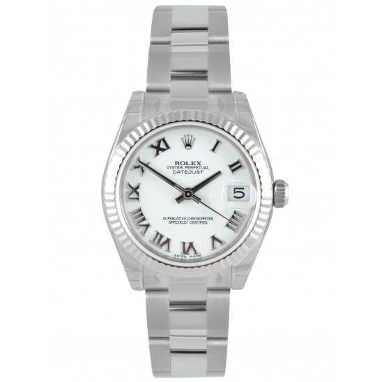 Rolex Lady Datejust 31mm White Roman Oyster 178274