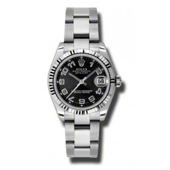 Rolex Lady Datejust 31mm Black Arab Concentric Oyster 178274