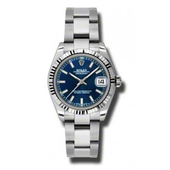 Rolex Lady Datejust 31mm Blue/index Oyster 178274
