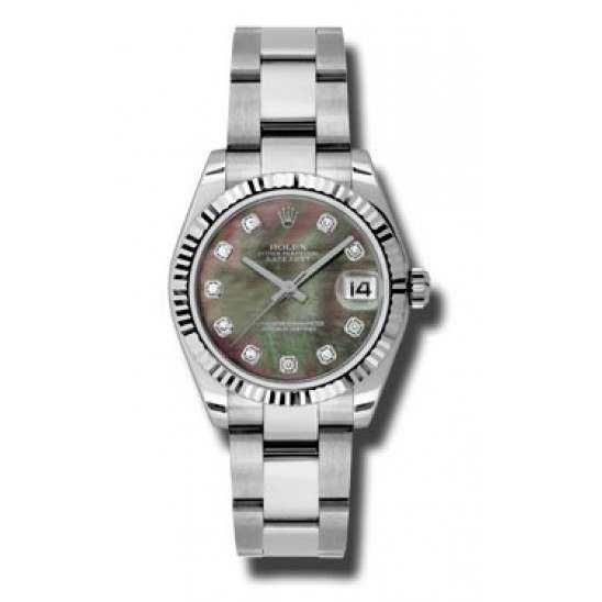 Rolex Lady Datejust 31mm Black mop/diamond Oyster 178274