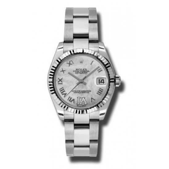 Rolex Lady Datejust 31mm White mop Roman Oyster 178274