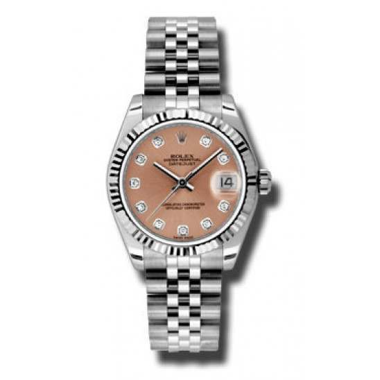 Rolex Lady Datejust 31mm Pink/diamond Jubilee 178274