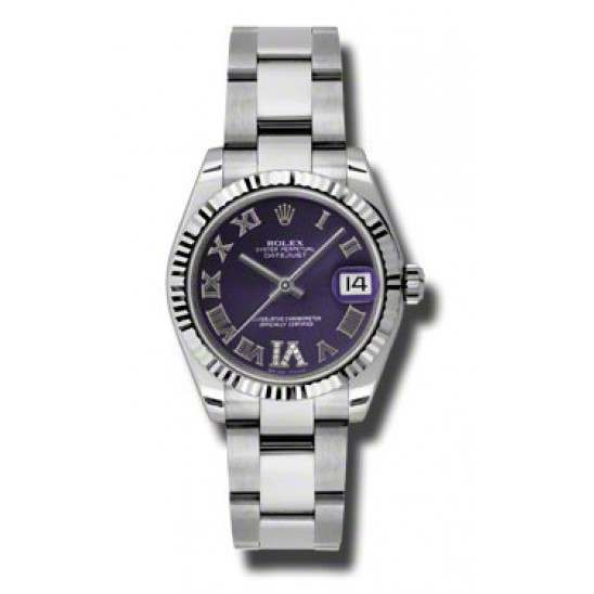 Rolex Lady Datejust 31mm Purple Roman Oyster 178274