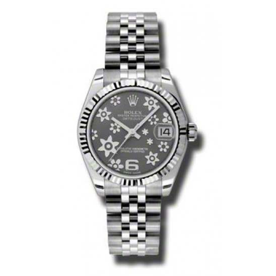 Rolex Lady Datejust 31mm Dark Rhodium/Arab 6 Jubilee 178274