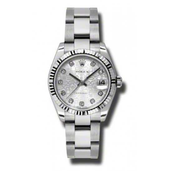Rolex Lady Datejust 31mm Silver Jub/diamond Oyster 178274