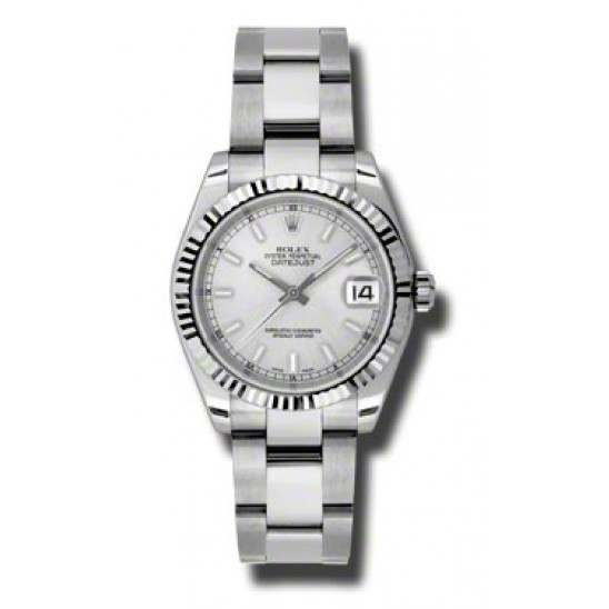 Rolex Lady Datejust 31mm Silver/index Oyster 178274