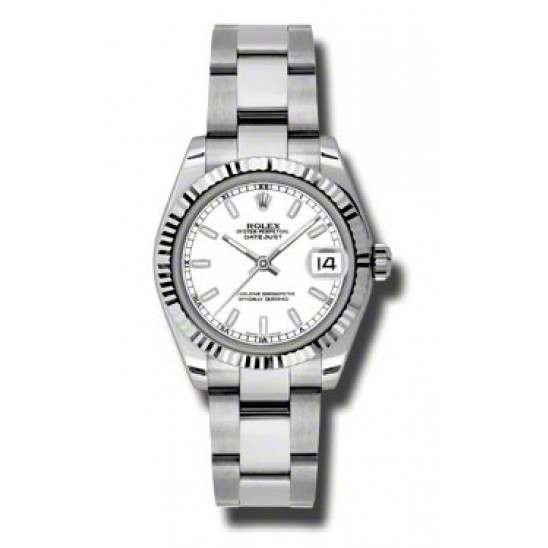Rolex Lady Datejust 31mm White/index Oyster 178274