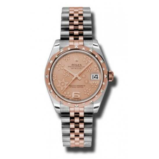 Rolex Lady Datejust 31mm Pink/Arab 6 Jubilee 178341