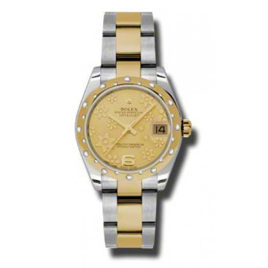Rolex Lady Datejust 31mm Champagne/Arab 6 Oyster 178343