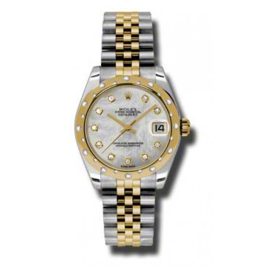 Rolex Lady Datejust 31mm White mop/diamond Jubilee 178343