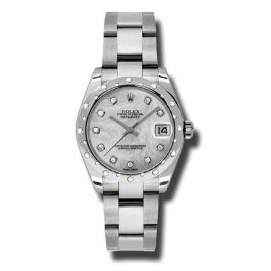 Rolex Lady Datejust 31mm White mop/diamond Oyster 178344