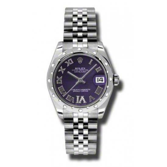 Rolex Lady Datejust 31mm Purple Roman Oyster 178344