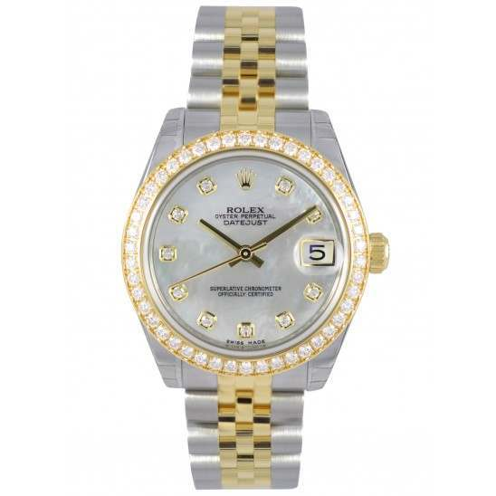 Rolex Lady Datejust 31mm White mop/diamond Jubilee 178383
