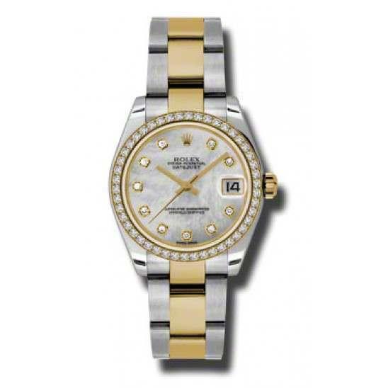 Rolex Lady Datejust 31mm White mop/diamond Oyster 178383