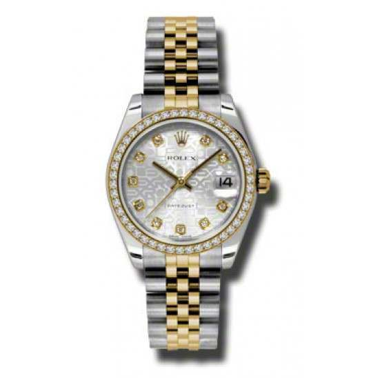 Rolex Lady Datejust 31mm Silver Jub/diamond Jubilee 178383