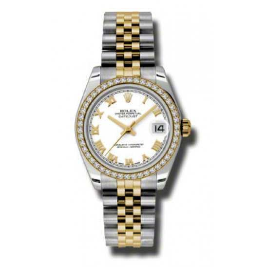 Rolex Lady Datejust 31mm White Roman Jubilee 178383