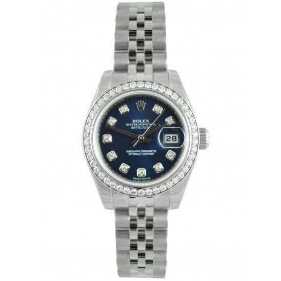 Rolex Lady Datejust 31mm Blue/diamond Jubilee 178384