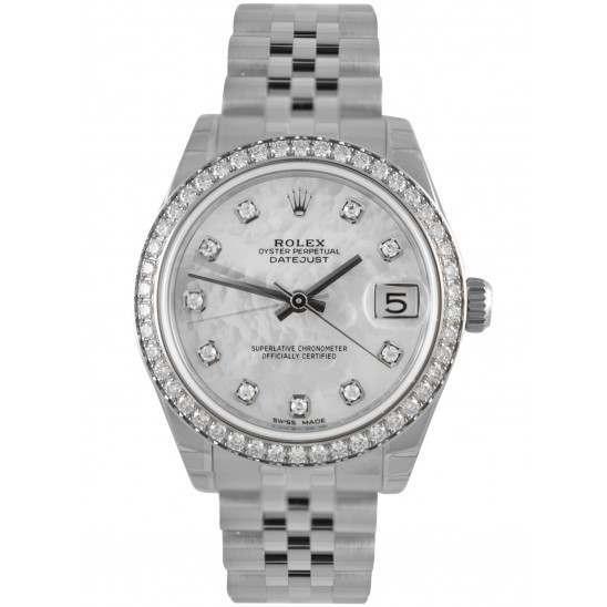 Rolex Lady Datejust 31mm White mop/diamond Jubilee 178384