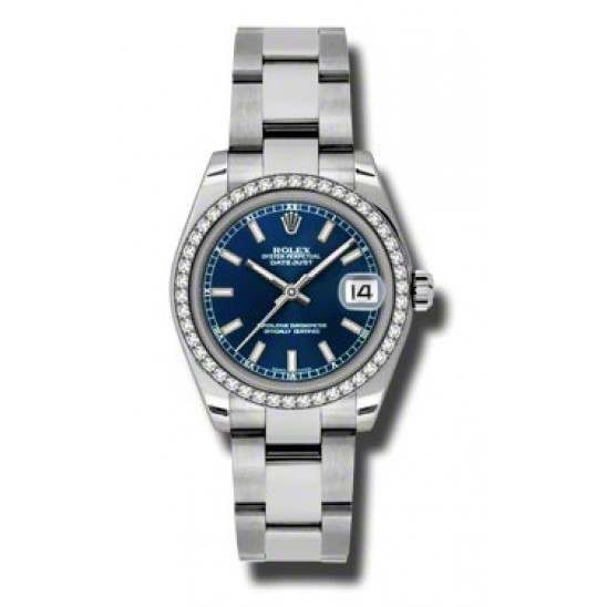 Rolex Lady Datejust 31mm Blue/index Oyster 178384