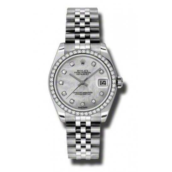 Rolex Lady Datejust 31mm White mop/diamond Jubilee 178384